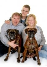 Familie Grelck mit Hunden.